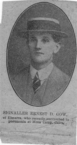Black and white portrait of Ernest Donald Gow