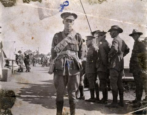 Sepia photograph of Thomas Kennedy Irwin Jr in uniform