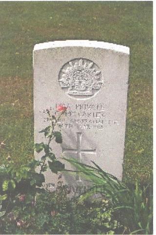 Gravestone of Charles McCarter