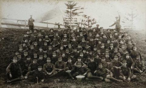 Kiama Camp 4th September 1916. David John Morgans (fifth row, fourth from right)