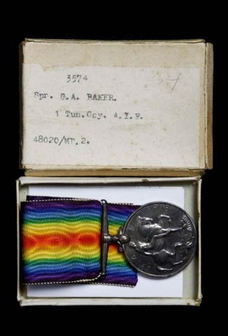 Picture of war medal of Sapper G.A.Baker