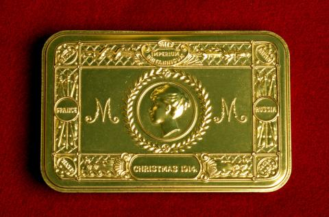 1914 cigarette case to commemorate the Christmas Truce.