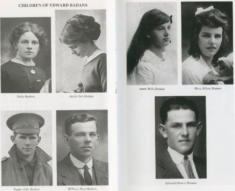 Walter Badan's siblings. Daisy, Jessie, William, Annie, Mary (Ellen), Edward (Bruce)