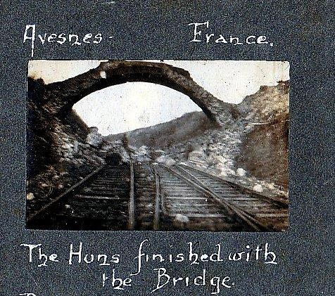 Text on image says: the Huns finished with the bridge