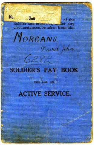 Pay book of David John Morgans