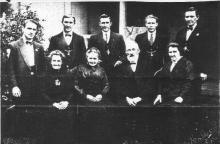 Joseph Salisbury back row, last on right