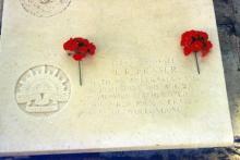 Grave stone of John Robert Fraser