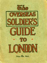Book cover reads: The Overseas Soldier's Guide to London