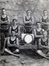 Black and white photo of North Wollongong Water Rats