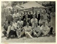 Sepia photograph of Wollongong Cricket Team featuring Thomas Kennedy Irwin Jr