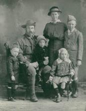 Black and white portrait of the Jardine family.