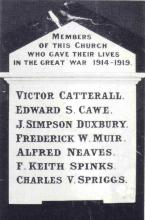 Commemorative Memorial Plaque of All Saints Church Figtree