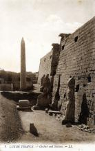 Sepia picture of Luxor temple in Egypt