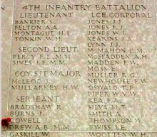4th Infantry Battalion Memorial feat. Francis William Madden