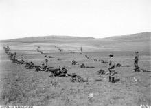 Photograph of machine gun squadron