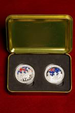 Picture of un-circulated coins in a case.