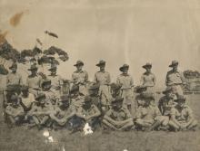 Sepia photograph of the Defence Corps