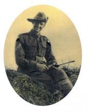 Sepia photograph of Bertram James Potter in uniform