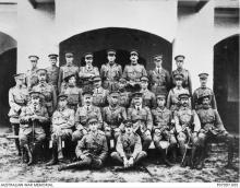Group portrait of officers of the 3rd Battalion.