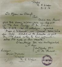 Letter from Miss Morrow to Australian Military