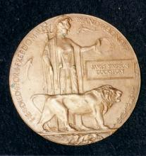 PIcture of brass plaque