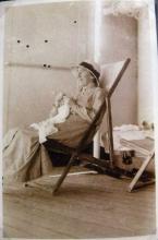Sepia photograph of nurse Wakeford.