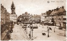 Postcard from David Morgans to Edith depicting the town of Douai, France