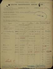 Grave registration report scan for Louis Stanley Kendall