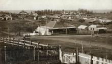 Sepia landscape photograph depicting Barney and Shoalhaven Sts.