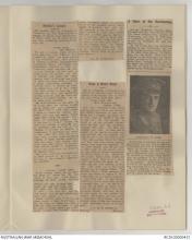 A newspaper clipping featuing Frederick Warren Muir